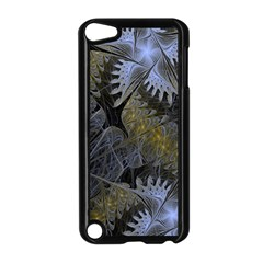 Fractal Wallpaper With Blue Flowers Apple Ipod Touch 5 Case (black)