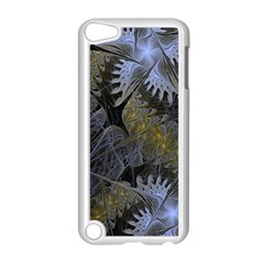 Fractal Wallpaper With Blue Flowers Apple iPod Touch 5 Case (White)