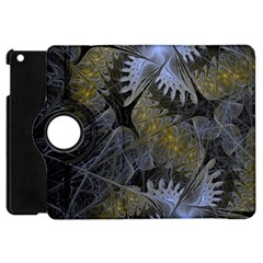 Fractal Wallpaper With Blue Flowers Apple Ipad Mini Flip 360 Case