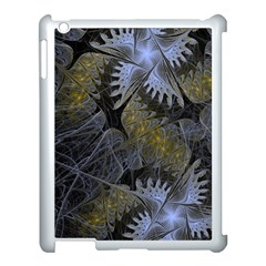Fractal Wallpaper With Blue Flowers Apple Ipad 3/4 Case (white)