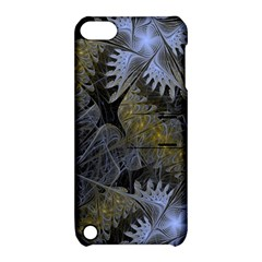 Fractal Wallpaper With Blue Flowers Apple Ipod Touch 5 Hardshell Case With Stand