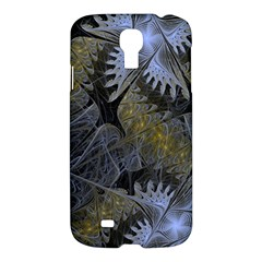 Fractal Wallpaper With Blue Flowers Samsung Galaxy S4 I9500/i9505 Hardshell Case