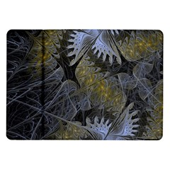 Fractal Wallpaper With Blue Flowers Samsung Galaxy Tab 10 1  P7500 Flip Case