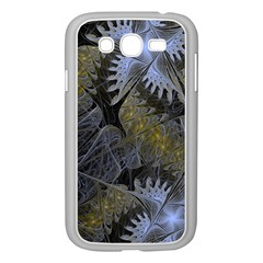 Fractal Wallpaper With Blue Flowers Samsung Galaxy Grand Duos I9082 Case (white)