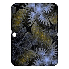 Fractal Wallpaper With Blue Flowers Samsung Galaxy Tab 3 (10.1 ) P5200 Hardshell Case
