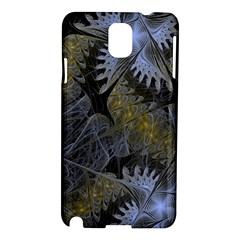 Fractal Wallpaper With Blue Flowers Samsung Galaxy Note 3 N9005 Hardshell Case