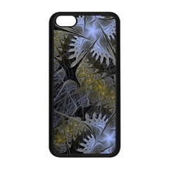Fractal Wallpaper With Blue Flowers Apple Iphone 5c Seamless Case (black)
