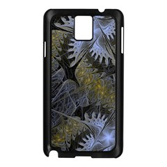 Fractal Wallpaper With Blue Flowers Samsung Galaxy Note 3 N9005 Case (Black)
