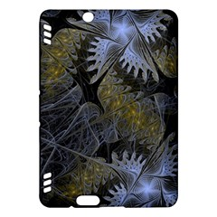 Fractal Wallpaper With Blue Flowers Kindle Fire HDX Hardshell Case