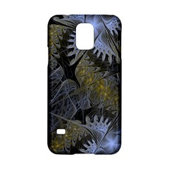 Fractal Wallpaper With Blue Flowers Samsung Galaxy S5 Hardshell Case