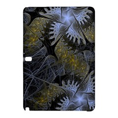 Fractal Wallpaper With Blue Flowers Samsung Galaxy Tab Pro 10 1 Hardshell Case
