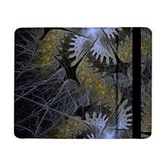 Fractal Wallpaper With Blue Flowers Samsung Galaxy Tab Pro 8.4  Flip Case