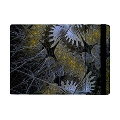Fractal Wallpaper With Blue Flowers iPad Mini 2 Flip Cases