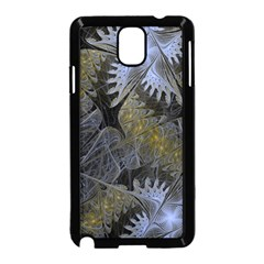 Fractal Wallpaper With Blue Flowers Samsung Galaxy Note 3 Neo Hardshell Case (Black)