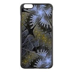Fractal Wallpaper With Blue Flowers Apple Iphone 6 Plus/6s Plus Black Enamel Case