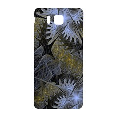Fractal Wallpaper With Blue Flowers Samsung Galaxy Alpha Hardshell Back Case
