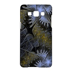 Fractal Wallpaper With Blue Flowers Samsung Galaxy A5 Hardshell Case