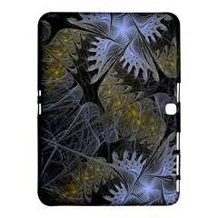 Fractal Wallpaper With Blue Flowers Samsung Galaxy Tab 4 (10 1 ) Hardshell Case