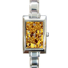 Yellow Cast Background Rectangle Italian Charm Watch