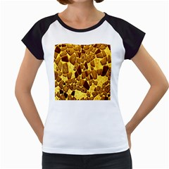 Yellow Cast Background Women s Cap Sleeve T