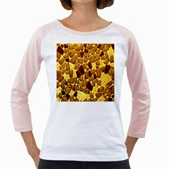 Yellow Cast Background Girly Raglans