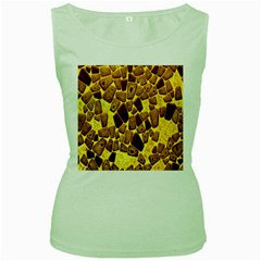 Yellow Cast Background Women s Green Tank Top
