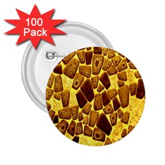 Yellow Cast Background 2 25  Buttons (100 Pack)