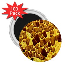 Yellow Cast Background 2 25  Magnets (100 Pack)