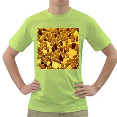 Yellow Cast Background Green T-Shirt