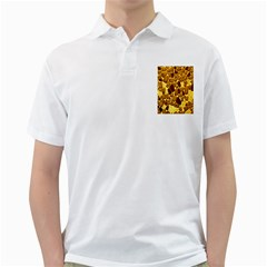 Yellow Cast Background Golf Shirts