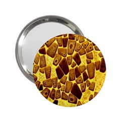 Yellow Cast Background 2.25  Handbag Mirrors