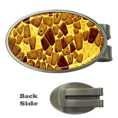 Yellow Cast Background Money Clips (oval)