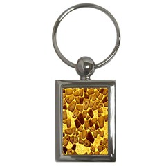 Yellow Cast Background Key Chains (Rectangle)