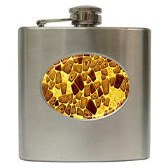 Yellow Cast Background Hip Flask (6 Oz)