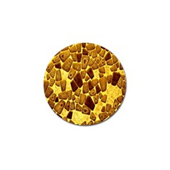 Yellow Cast Background Golf Ball Marker