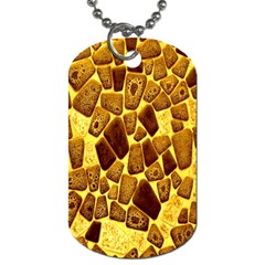 Yellow Cast Background Dog Tag (Two Sides)