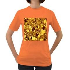 Yellow Cast Background Women s Dark T Shirt