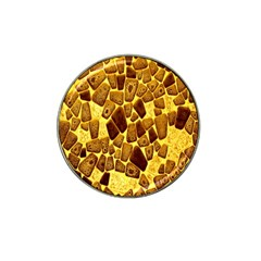 Yellow Cast Background Hat Clip Ball Marker