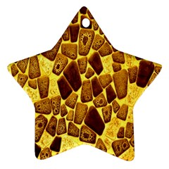 Yellow Cast Background Star Ornament (two Sides)