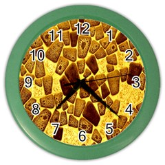 Yellow Cast Background Color Wall Clocks