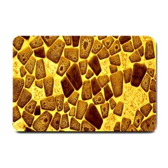 Yellow Cast Background Small Doormat