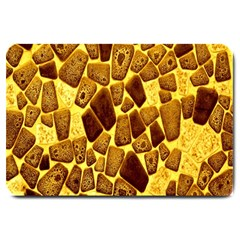 Yellow Cast Background Large Doormat