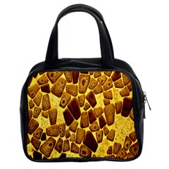 Yellow Cast Background Classic Handbags (2 Sides)