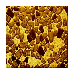 Yellow Cast Background Face Towel