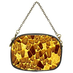 Yellow Cast Background Chain Purses (two Sides)
