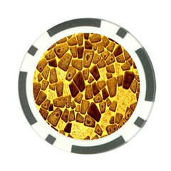 Yellow Cast Background Poker Chip Card Guard (10 pack)