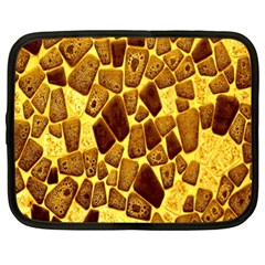 Yellow Cast Background Netbook Case (xl)