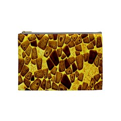 Yellow Cast Background Cosmetic Bag (medium)