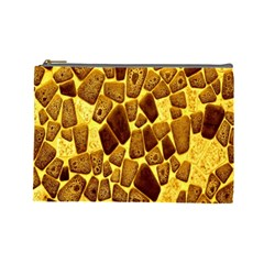 Yellow Cast Background Cosmetic Bag (large)