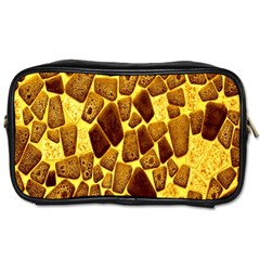 Yellow Cast Background Toiletries Bags 2 Side